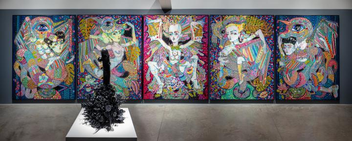 Del Kathryn Barton, sing blood wings sing, Albertz Benda, New York, installation view 4
