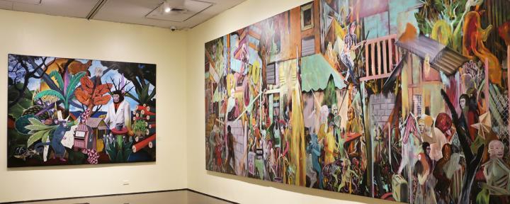Rodel Tapaya, Urban Labyrinth, Ayala Museum