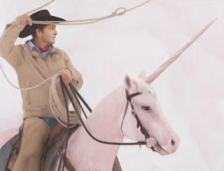 Will Cotton, Roping 2, 2021. Courtesy the artist