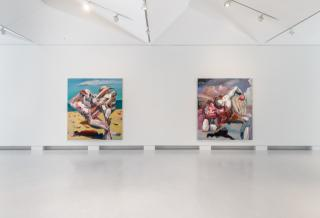 Ben Quilty: Free Fall, 2021. Installation image, Cromwell Place. Photo by Lucy Emms