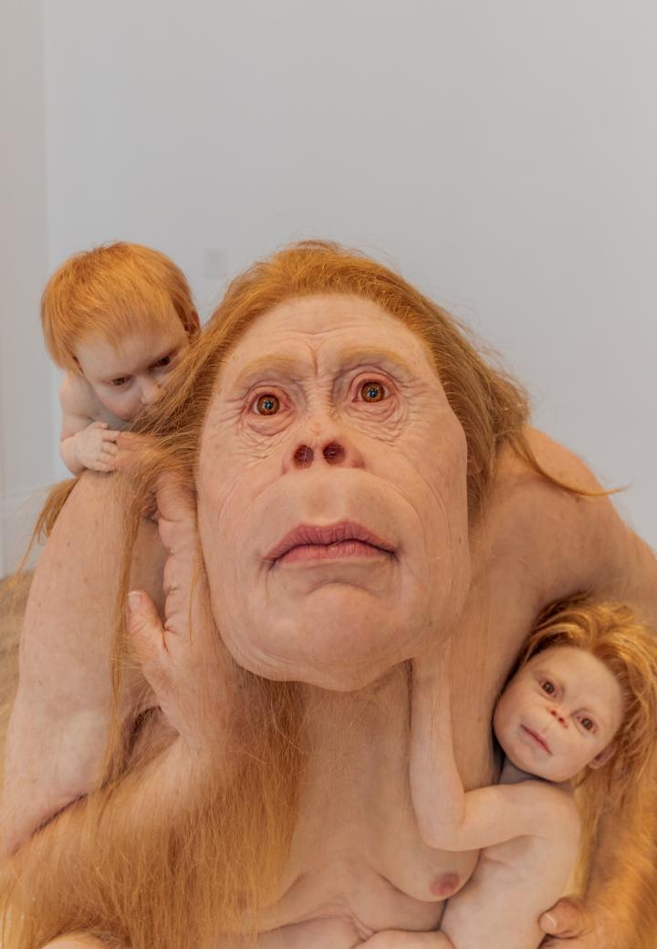 Patricia Piccinini: Kindred, 2021. Installation image, Cromwell Place. Photo by Lucy Emms