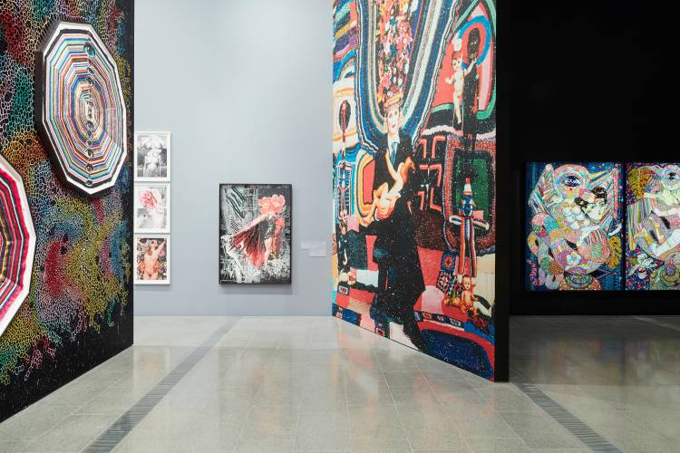 Del Kathryn Barton, the highway is a disco, National Gallery of Victoria, Installation view 3
