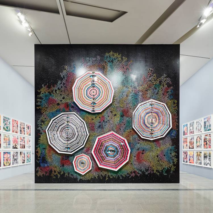 Del Kathryn Barton, the highway is a disco, National Gallery of Victoria, Installation view 4