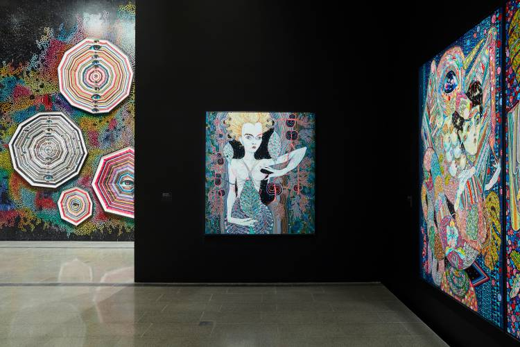 Del Kathryn Barton, the highway is a disco, National Gallery of Victoria, Installation view 5