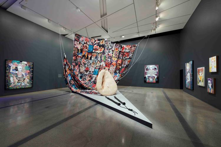 Del Kathryn Barton, the highway is a disco, National Gallery of Victoria, Installation view 9