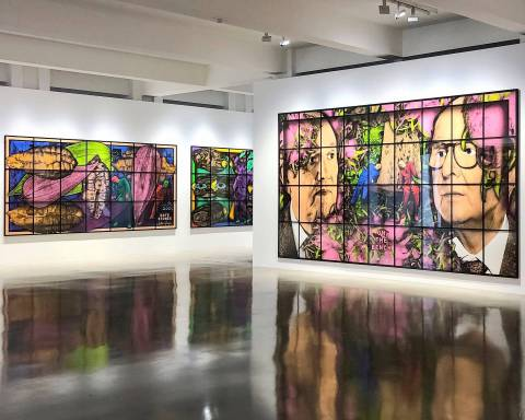 GILBERT & GEORGE, THE PARADISICAL PICTURES, Sprüth Magers, Los Angeles, Installation view 3