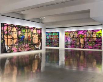 GILBERT & GEORGE, THE PARADISICAL PICTURES, Sprüth Magers, Los Angeles, Installation view 4