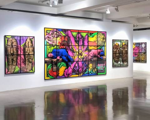 GILBERT & GEORGE, THE PARADISICAL PICTURES, Sprüth Magers, Los Angeles, Installation view 6