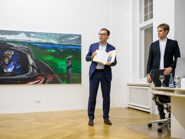 Rainer Fetting, Taxis Monsters and the Good Old Sea, Arndt Art Agency, Berlin, Opening Reception 1