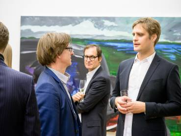 Rainer Fetting, Taxis Monsters and the Good Old Sea, Arndt Art Agency, Berlin, Opening Reception 3