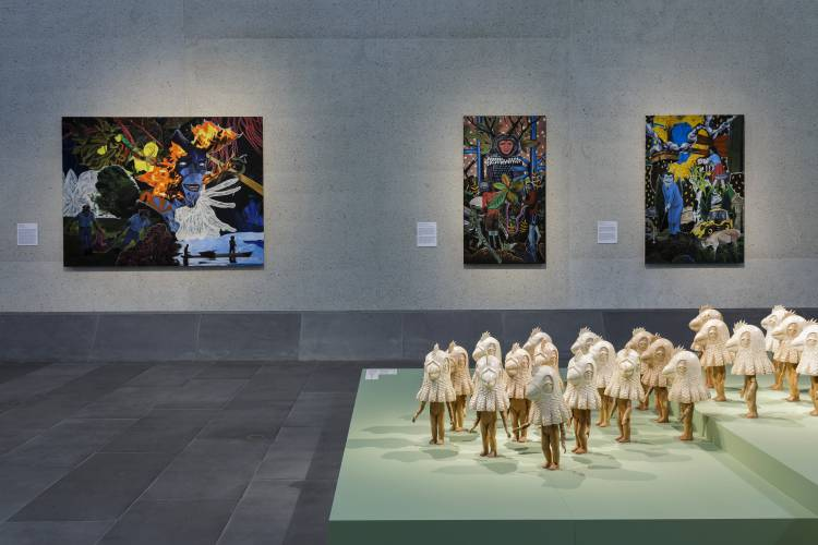 Rodel Tapaya, New Art from the Philippines, the National Gallery of Australia, Canberra, Installation view 6