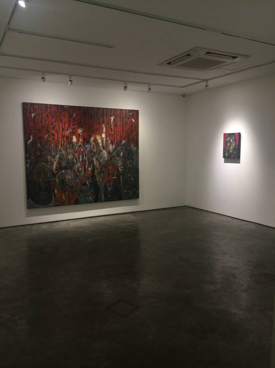 Rodel Tapaya, On the Benefits of a Crowded Space, Art Informal, Manila, Installation view 4.JPG