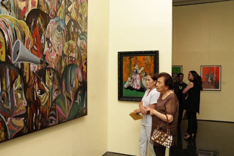 Rodel Tapaya, Urban Labyrinth, Ayala Museum, Opening Reception 14.JPG