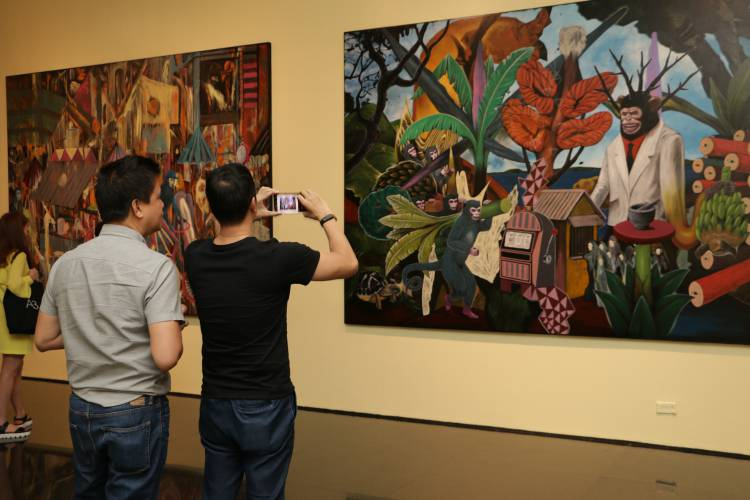 Rodel Tapaya, Urban Labyrinth, Ayala Museum, Opening Reception 15.JPG
