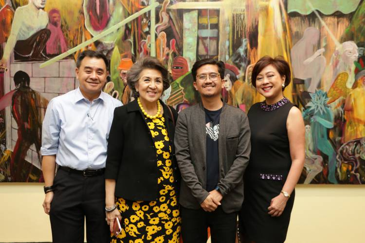Rodel Tapaya, Urban Labyrinth, Ayala Museum, Opening Reception 18.JPG