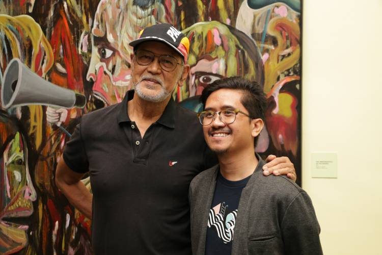 Rodel Tapaya, Urban Labyrinth, Ayala Museum, Opening Reception 19.JPG