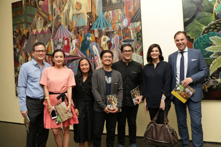 Rodel Tapaya, Urban Labyrinth, Ayala Museum, Opening Reception 25.JPG