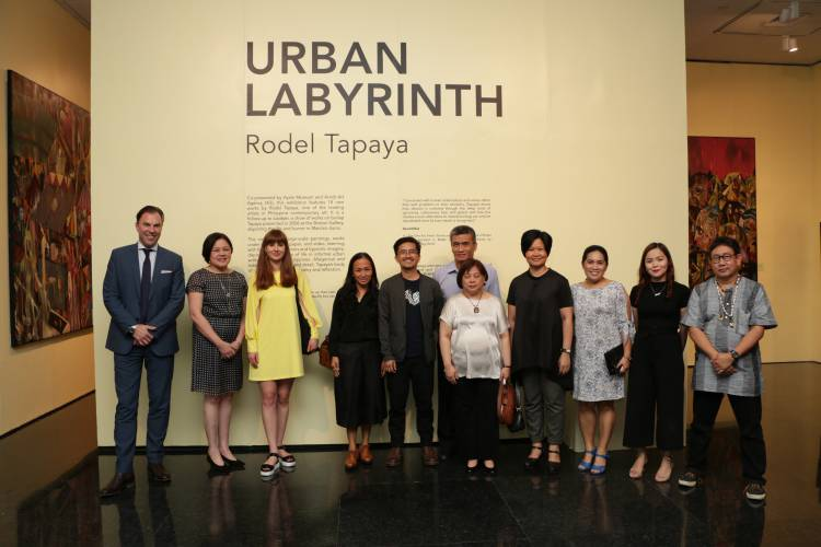 Rodel Tapaya, Urban Labyrinth, Ayala Museum, Opening Reception 7.JPG
