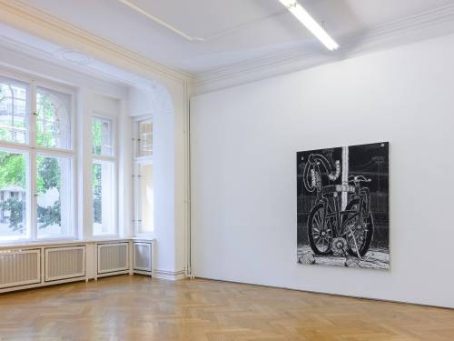 Timothy Curtis, Temporary Decisions Inkblots and Bikes, Arndt Art Agency Berlin, Installation view 4