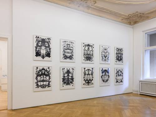 Timothy Curtis, Temporary Decisions Inkblots and Bikes, Arndt Art Agency Berlin, Installation view 6