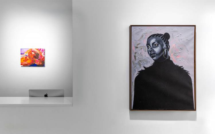 Xenia Crossroads in Portrait Painting, Marianne Boesky Gallery, New York, Installation view 10